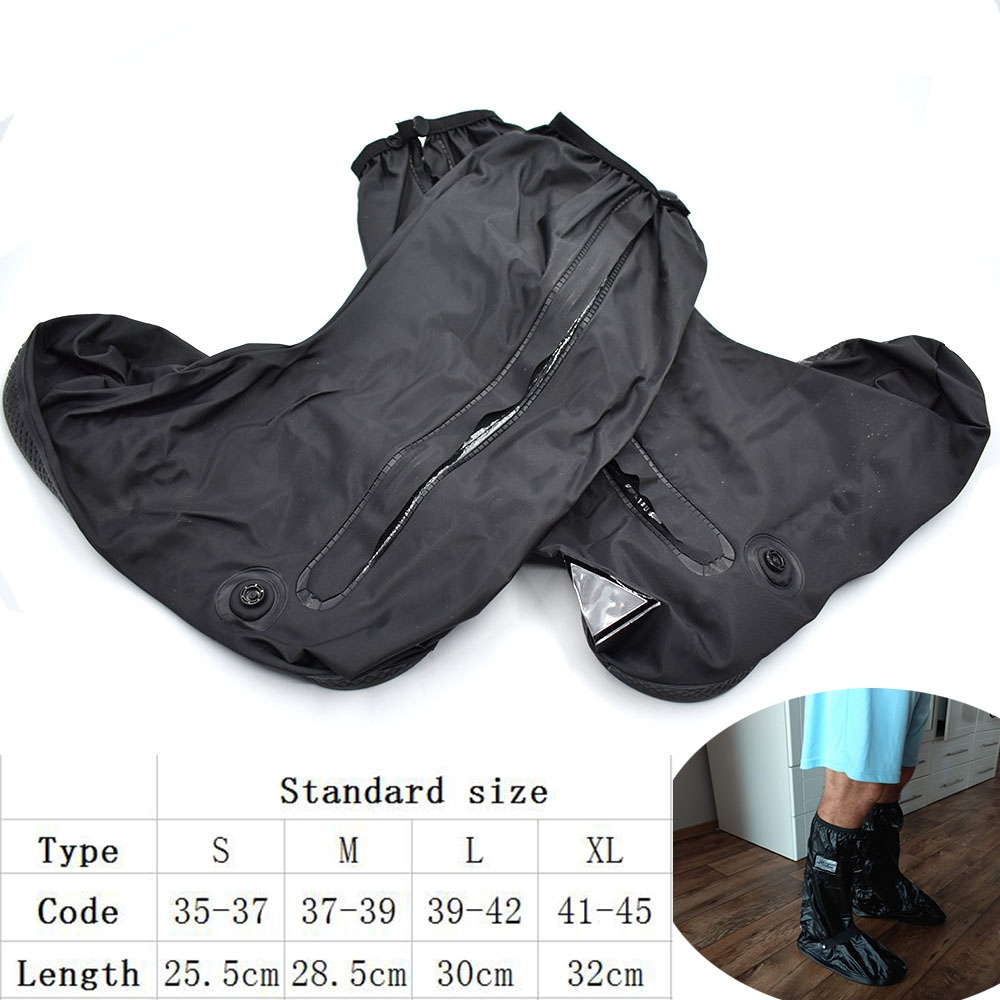 Motorcycle rain boots set waterproof non-slip cycling bicycle shoe cover For BMW K1600 K 1200 1300 S/R/GT R1200R/S/GS