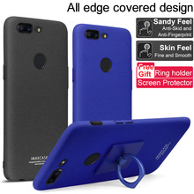 For OnePlus 5T case iMak Cowboy Frosted Phone Case For OnePlus5T Bumper Case Cover + Phone Holder+ Screen Protector