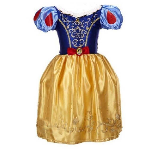 Niñas de Navidad Vestido de Los Niños Vestidos de Otoño Vestidos de La Princesa Rapunzel Aurora Niños Fiesta de Disfraces De Halloween Ropa infantil