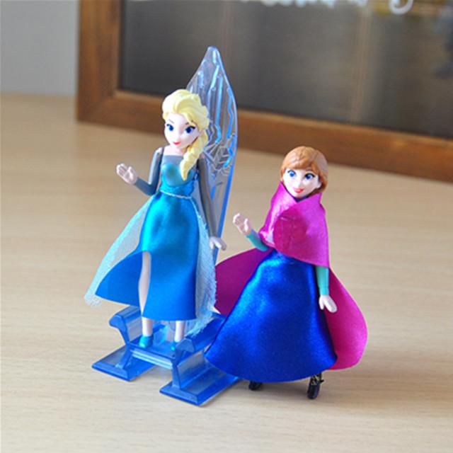 Disney Frozen Anna Elsa Princess Olaf Sven Kristoff And Castle Ice Palace Throne 6pcs/Lot 6-16cm