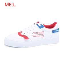 2018 Street White Sneakers Women Shoes with Thick Bottom All-match Lace Muffin Female Student Spring Autumn Leisure Flat Shoes недорого