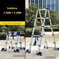 1 45 м + 1 45 м высокое качество утолщение алюминиевого сплава елочка лестница портативный бытовой 5 + 5 шагов телескопические лестницы JJS511
