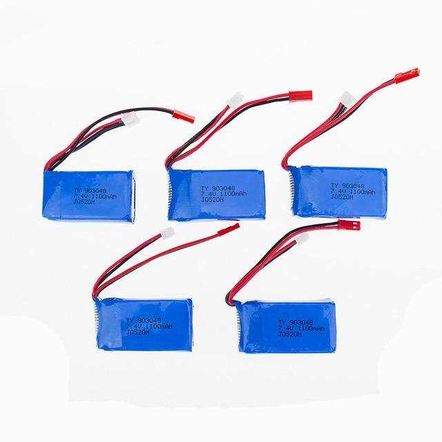 Hot 7.4V 1100mah Wltoys  A949 A959 A969 A979 K929 LiPo Battery JST plug Part for Wltoys RC Part Wholesale