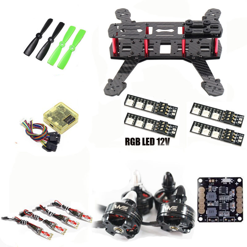 2204 motor ZMR250 QAV250 quadcopter frame kit cc3d Flight Control 12A ESC for cross racing drone FPV diy h250 quadcopter frame kit fpv mini drone qav250 pure carbon frame cc3d 2204 2300kv motor simon k 12a esc 5045 prop