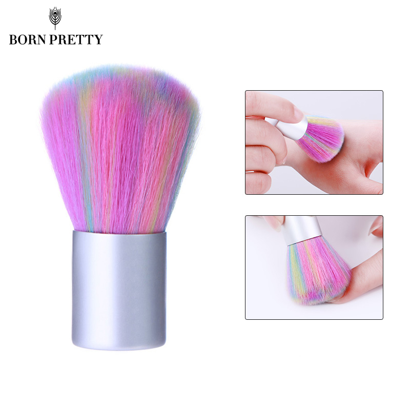 Colorful Pink Color Soft Nail Cleaning Brush Acrylic UV Gel Powder Dust Remover Tool Manicure Nail Care DIY Salon Tool