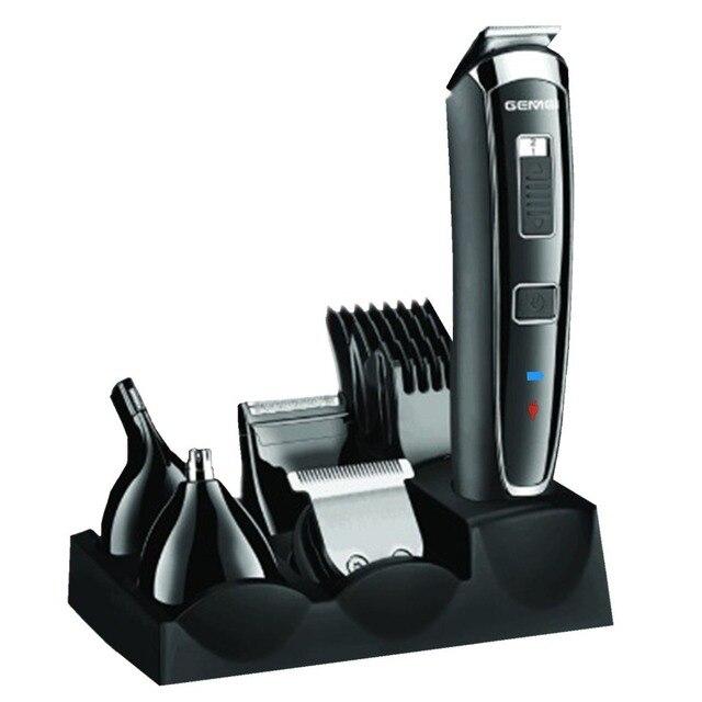 Kit de aseo de los hombres profesional trimmer Clipper pelo eléctrico barba  trimmer ceja barba afeitar 50784dca0c83