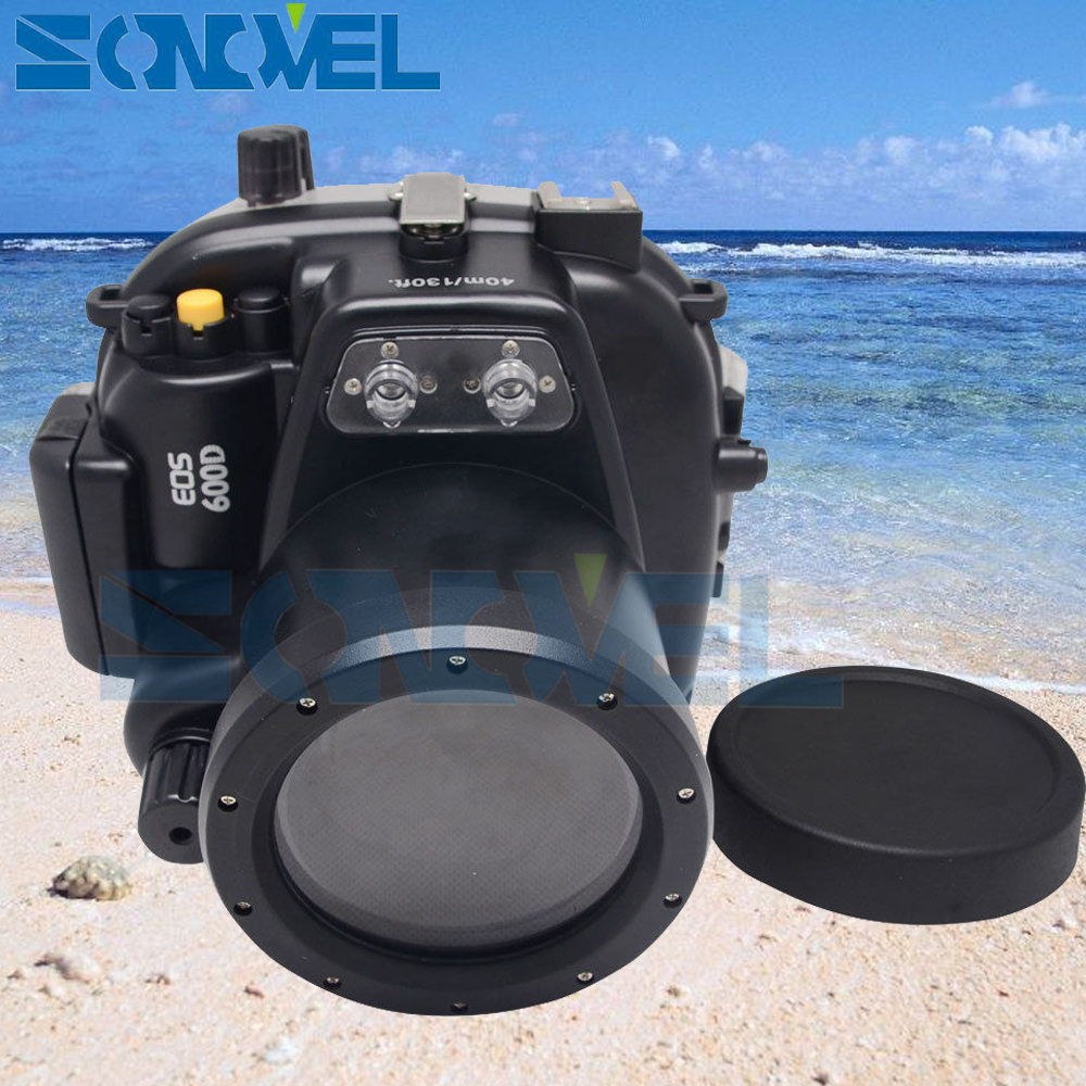 Meikon 40m 130ft Waterproof Underwater Diving Case Camera Housing Case For Canon EOS 600D / Rebel T3i With 18-55mm Lens 40m 130ft waterproof underwater camera diving housing case aluminum handle for sony a7 a7r a7s 28 70mm lens camera