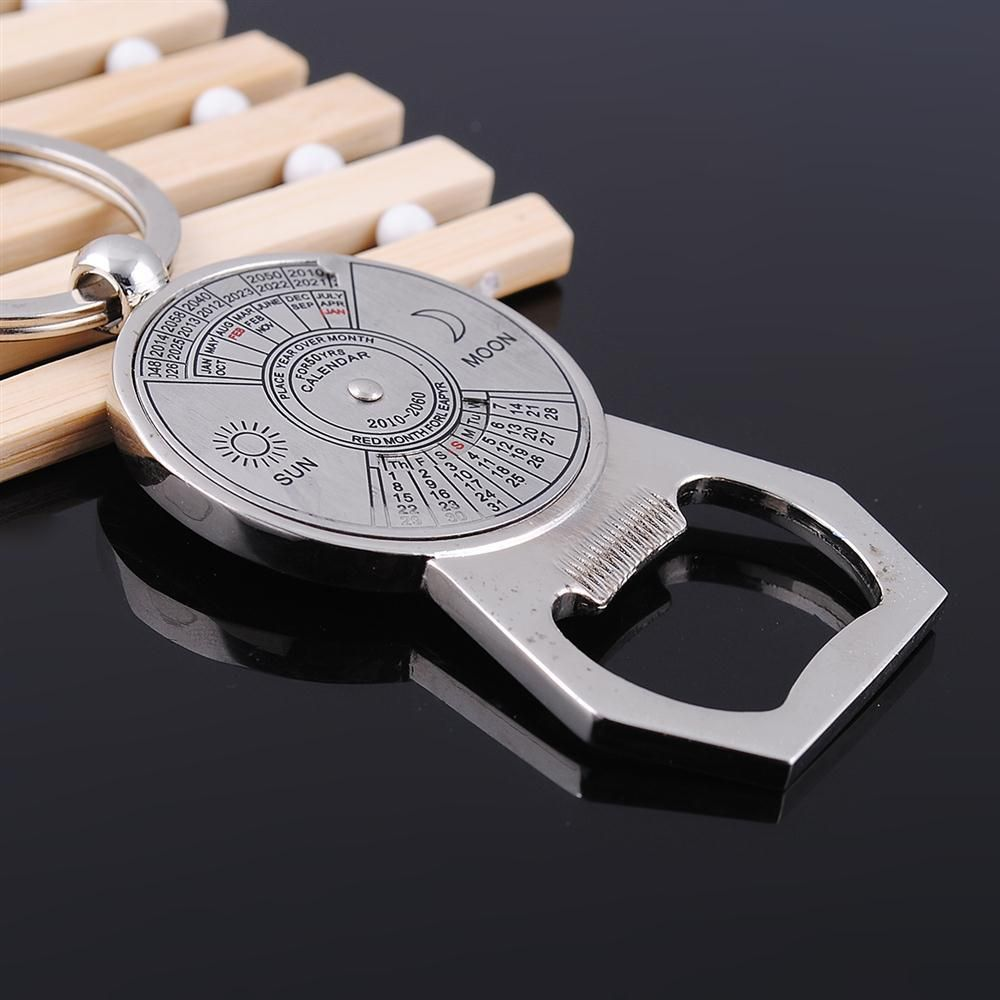 Creative Gift Perpetual Calendar Opener Keychain  Engravable Corporate Promotion Key Chain