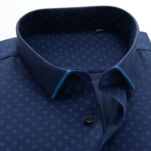 Image 3 - ใหญ่ขนาดเสื้อผู้ชาย 10xl 11xl 12xl Oxford พิมพ์ชายเสื้อลำลองผู้ชายแขนยาวสไตล์อังกฤษ plus szie เสื้อผู้ชาย 75 150 กก