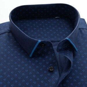 Image 3 - 큰 크기 셔츠 남자 10xl 11xl 12xl 옥스포드 인쇄 캐주얼 남자 셔츠 긴 소매 영국 스타일 플러스 szie 셔츠 남자 75 150 kg
