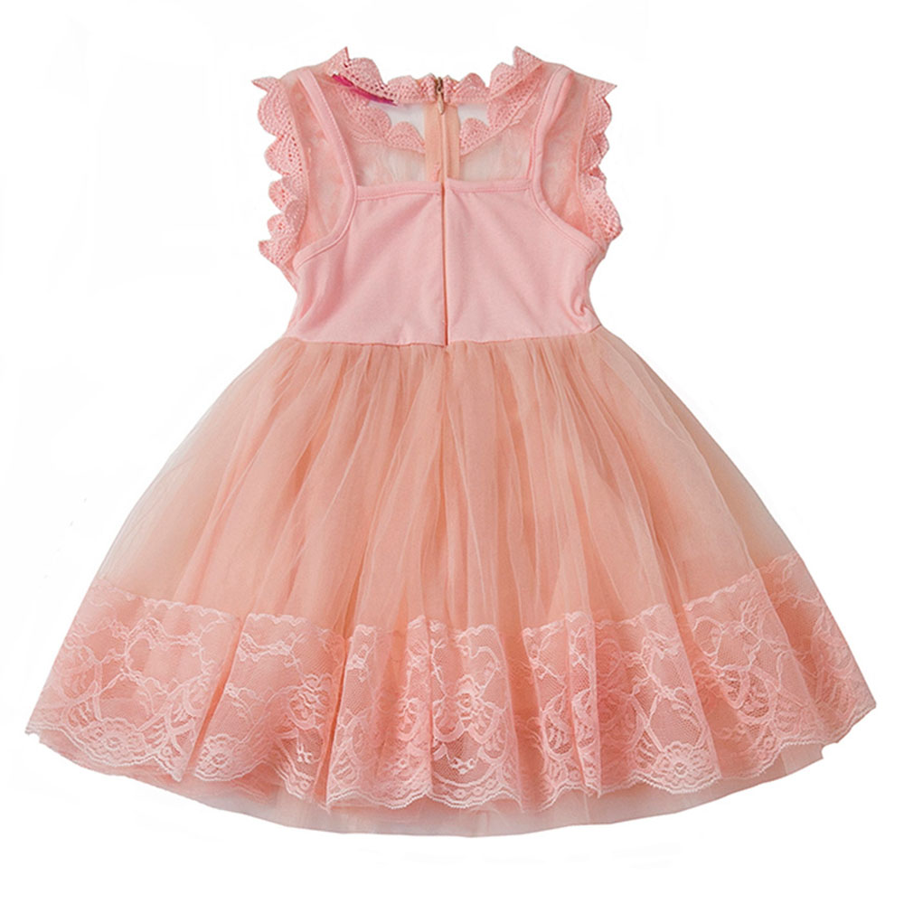 AmzBarley Girls Princess Dress toddler girl summer sleeveless clothes Lace Floral Voile tutu Dress Cotton Tops lining clothing in Dresses from Mother Kids