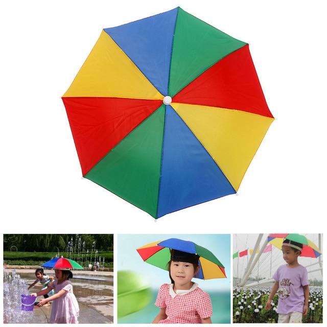 3bb64e3411dde Foldable Fishing Cap Outdoor Sport Umbrella Hat Hiking Beach Camping  Headwear Rain Cap Lightweight Head Sunscreen