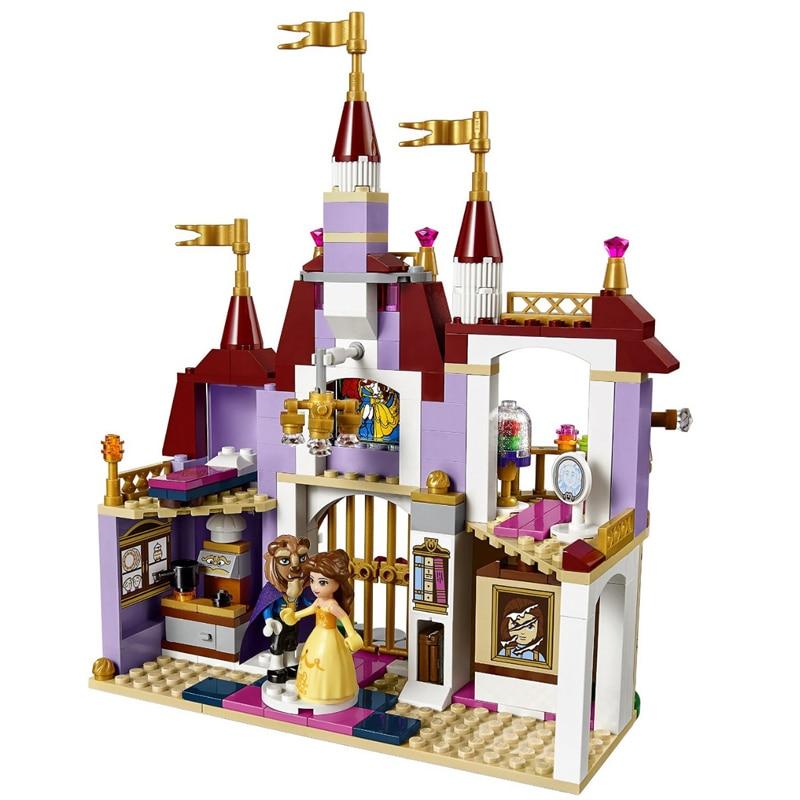 Qunlong 379pcs Princess Belles Enchanted Castle Building Blocks For Girl Friends Kids Model Toys Compatible Legoe Children Gift 3