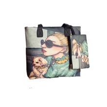 Shunvbasha Fashion Composite Bags 2016 Famous Designer Girl Printing Tote Bags Women Top Handle Leather Handbags Shoulder Bags