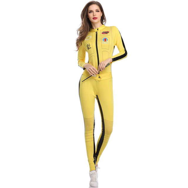 07cf59b5752 TITIVATE Sexy Women Model Jumpsuit Long Sleeves Race Car Driver DJ Costume  With Fashion Uniform Halloween Adult Night Party Wear