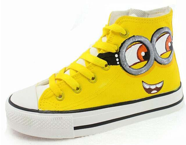c5ee6aa43b40 placeholder Despicable Me Minions Style Adult Casual Canvas Shoes for Men  Women Sneakers Hand-painted Sneaker