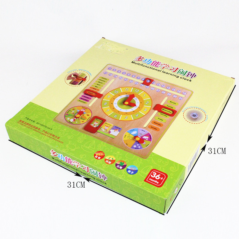 Calendar and Clock Wood Numbers Math Preschool Early Education size