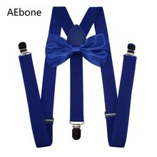 AEbone Suspensorio Men Royal Blue Suspenders and Bow Tie Red Suspenders for Women Pants Bretels Mannen Tirantes Mujer Sus69