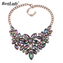 Best lady 2017 Fashion Jewelry Luxury Bohemian Wedding Statement Necklace Women Chokers Collier Multicolored Maxi Necklace 5114