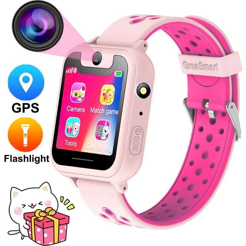 "Kids S6 Smart Watch GPS Tracker Watch HD 1.54"" Touch Screen Remote Camera Anti Lost SOS Alarm SIM Location Device Children watch-in Smart Watches from Consumer Electronics"