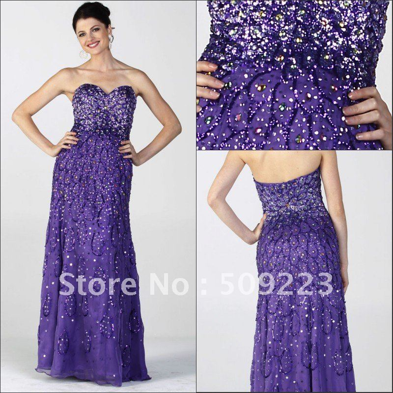 Magnificent Sweetheart Floor Length Sweep Train Extensive Beaded