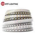 WS2812B RGB светодиодный полосы светильник, 1 м, 2 м, 4 м, 5 м прибор приемно-индивидуально WS2812 30 60 74 96 100 144 светодиодный s Magic Цвет чёрно-белые печатные...