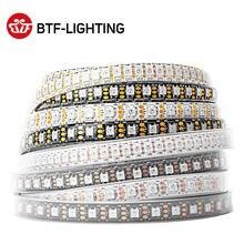 Ws2812b rgb conduziu a luz de tira 1m 2m 4m 5m endereçável individualmente ws2812 30 60 74 96 100 144 leds cor mágica preto branco pcb 5v