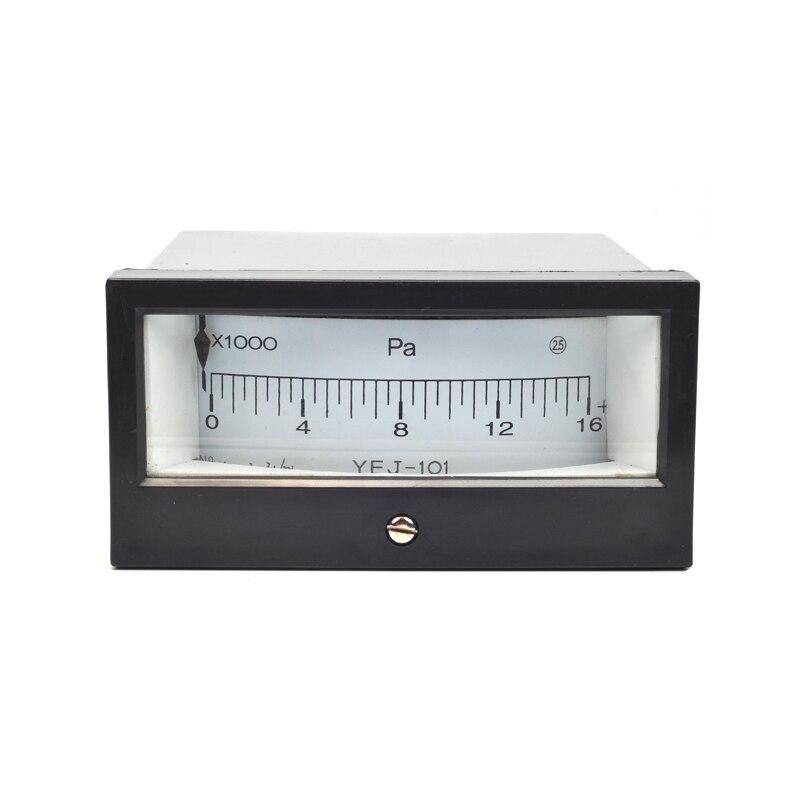 YEJ-101 0-16KPA Square Diaphragm Pressure Gauge Film Box Pressure Gauge Square Pressure gauge  Positive Pressure Meter co2 16 40 101