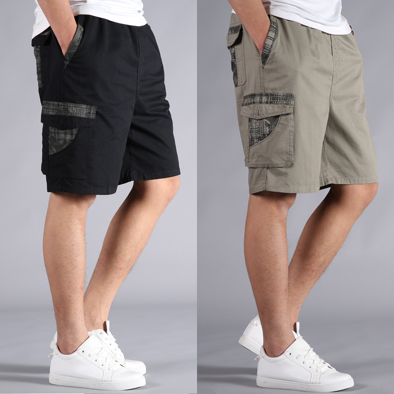 Men Short Summer Plus Size Cotton Elastic Waist Bermuda Hot Loose Baggy Army Green Male Cargo Casual Short Male 5XL 6XL 4XL XXXL