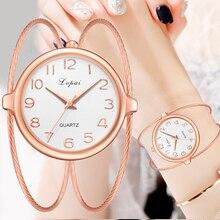 Frauen Mode Luxus Uhr Armband Quarz Kleid Uhren Rose Gold Kleine Und Exquisite Lvpai Marke Damen Casual Uhr LP353