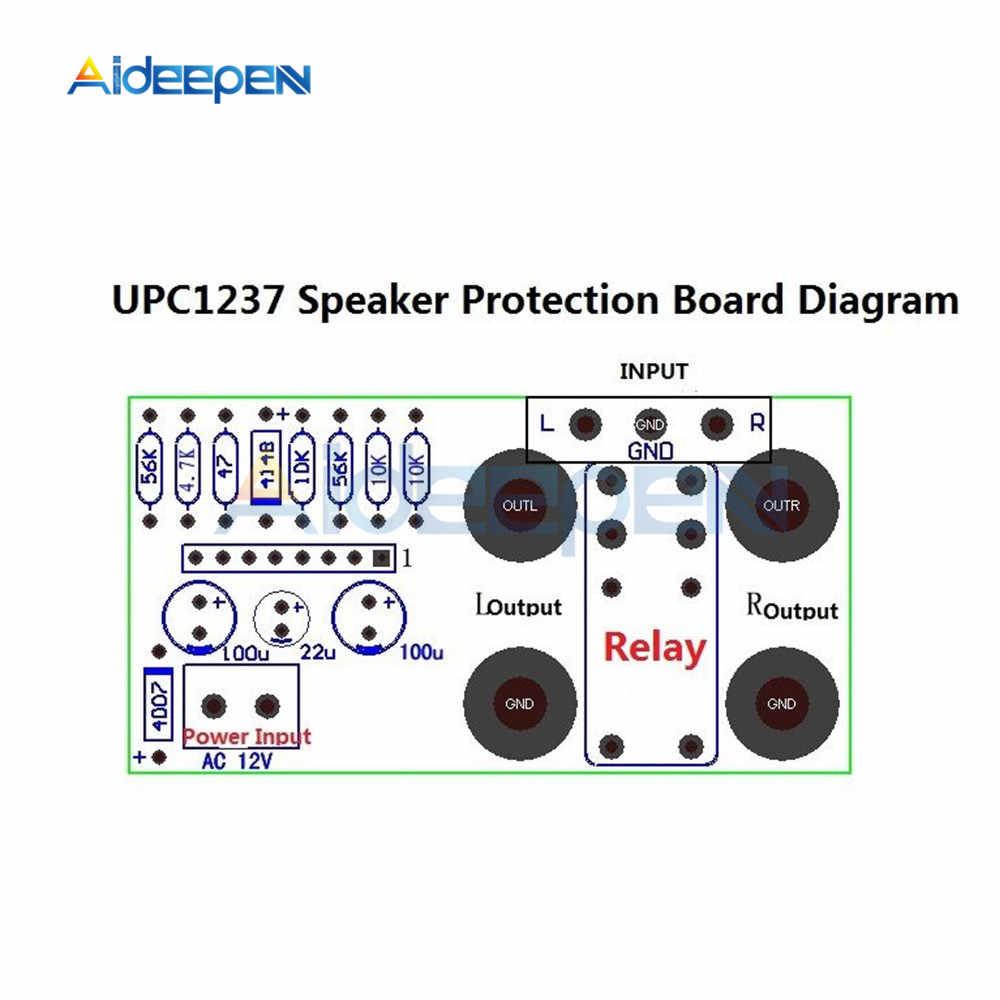 Dual Channel UPC1237 ลำโพงป้องกันชุด BOOT DELAY DC DC สำเร็จรูปผลิตภัณฑ์