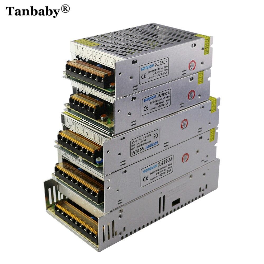 Power Supply Adapter For Led Strip Lighting Transfomer Ac100-240v To Dc12v 1a 2a 3.2a 5a 8.5a 10a 20a 30a 40a 50a Switch New Il Led Lighting