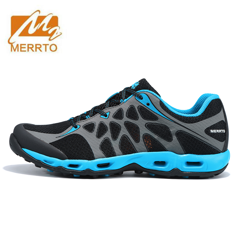 MERRTO Men's Spring And Summer Outdoor Hiking Trekking Shoes Sneakers For Men Fall Sports Climbing Mountain Trail Shoes Man merrto men s sports leather outdoor hiking trekking shoes sneakers for men wearable climbing mountain shoes man senderismo