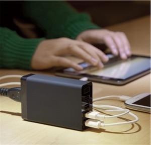 Image 5 - רב usb מטען 5 יציאת USB תחנת טעינה אוניברסלי 40w מהיר מטען QC 2.0 טלפון מטענים USB שולחני מטען עבור טלפון