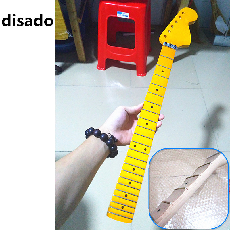 disado 22 Frets big headstock maple Electric Guitar Neck maple scallop fretboard inlay dots glossy paint guitar accessories professional gemological for distinguishing real dimaond selector ii