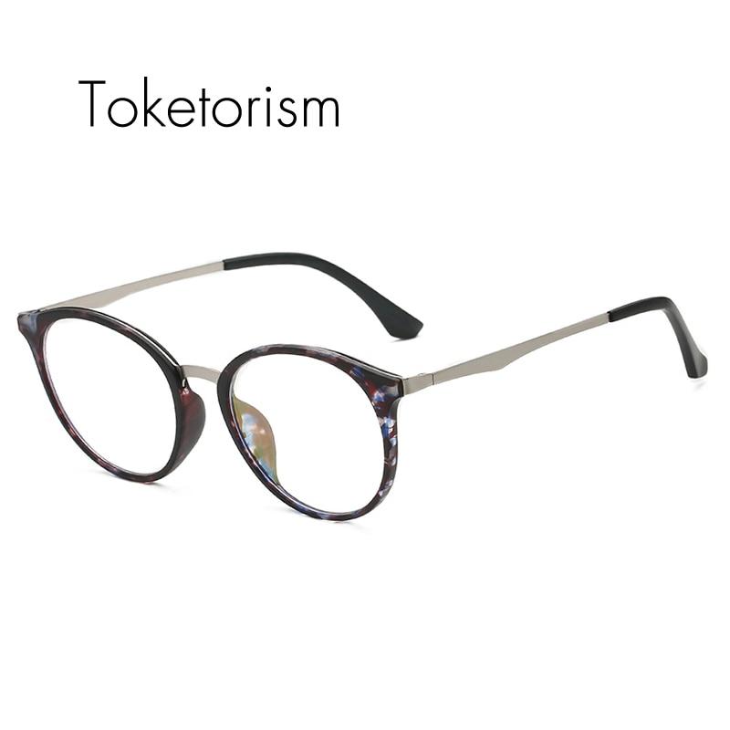 6a361398fb77 Toketorism vintage design clear lenses glasses plastic and metal eye frames  women men 0761
