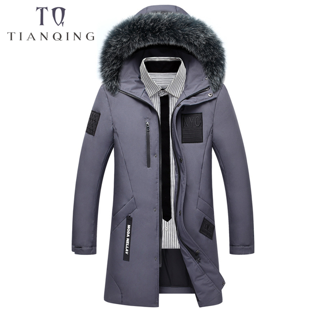 2018 New Brand Men Long Can Withstand – 20 Degrees Winter Jacket Men Big Real Fur Collar Hooded Duck Down Jacket Big Size 3XL