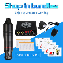 Профессиональная татуировка роторная ручка набор lcd Мини мощность татуировки педаль переключатель картридж иглы поставка