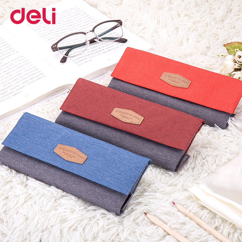 Deli new 2018 pencil case for school pencil bag cute simple Large capacity astuccio scuola trousse crayon kawaii gift for kids new shop 220904 primary school students pencils female disney ice and snow children cute box simple large capacity pencil case