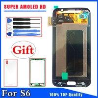 HD Super AMOLED Para Samsung Galaxy S6 G9200 G920 G920F Display LCD de Toque Substituição Digitador Da Tela