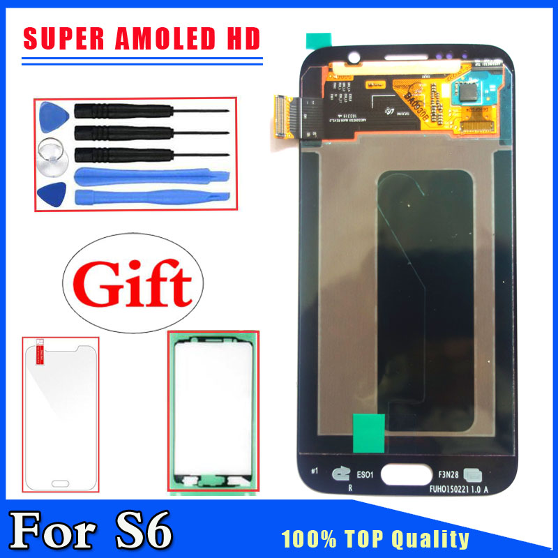 Super AMOLED HD Pour Samsung Galaxy S6 G920 G9200 G920F LCD Affichage Écran Tactile Digitizer Remplacement