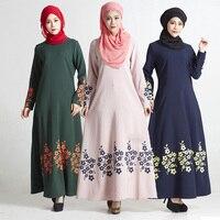 בגדי העבאיה טורקיה Djellaba אתני אופנה ארוכה Jilbab האסלאמי ערבי מוסלמי נשים בגדי צנוע אסלאמי העבאיה שמלת מקסי