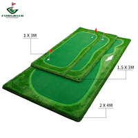 FUNGREEN 4.5x9 ft Golf Putting Green Indoor Outdoor Backyard Golf Practice Putting Trainer Mat Portable Training Game For Golfer