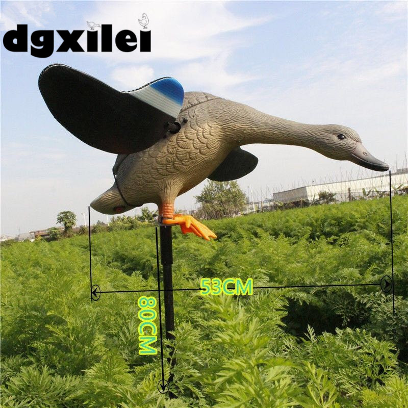 2017 Xilei Free Shipping Dc 6V/12V Xilei Duck Flying Hunt Ducks With Remote Control With Spinning Wings 2017 xilei free shipping dc 6v 12v new arrivals animal trap decoy outdoor duck decoy motorized with spinning wings