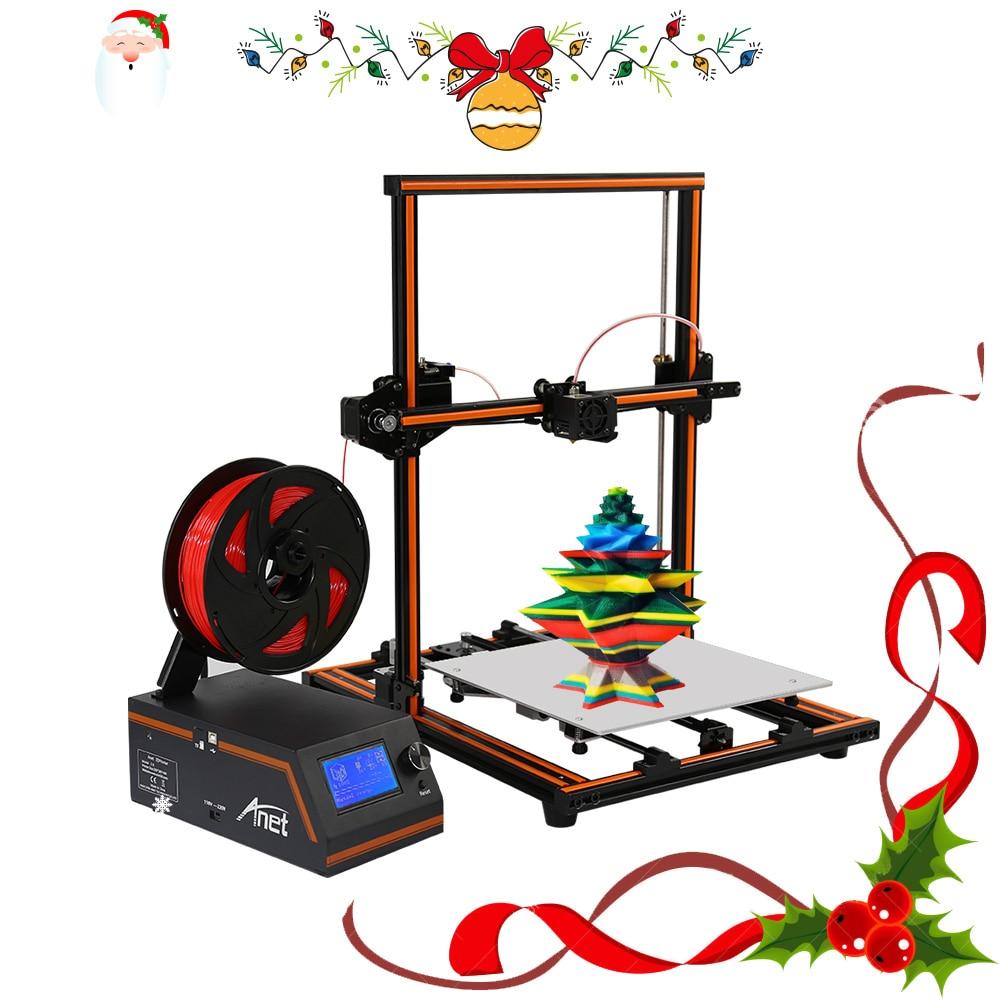 Anet E10 E12 3D Imprimante Kit Grand Impression Taille Haute Précision Bureau Reprap DIY Kit Hors-ligne D'impression avec filament De Noël