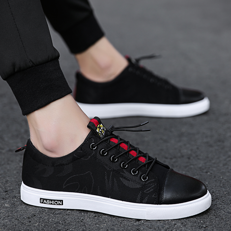 Classic Canvas Shoes Men Sneakers Platform Lace-Up School Boy Casual Shoes Simple Style Match Men Spring Autumn Footwear 5