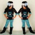 2 Pcs Criança Crianças letras e seta topos + calças define Meninas Do Bebê Leopardo meia Manga Tops T-shirt + Calças Outfits Roupas Definidos