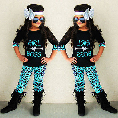 2Pcs Toddler Kids letters and arrow tops +Leopard pants sets Baby Girls half Sleeve T-shirt Tops+Pants Outfits Clothes Set цена