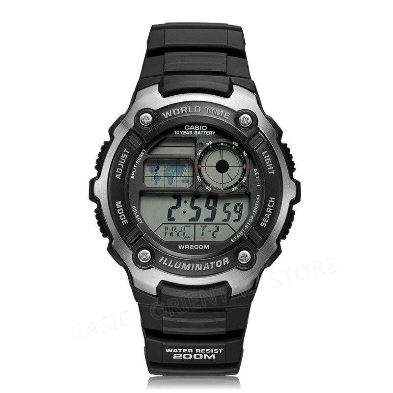 Casio Часы лучший бренд роскошных Для мужчин спортивные цифровые часы Водонепроницаемый Полный календарь будильник Relogio AE-2100 Diver relogio masculino