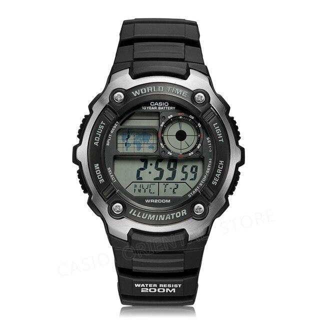 ff8a5561829 Casio assistir top marca de luxo Homens Esportes relógio digital À Prova D   Água Alarme
